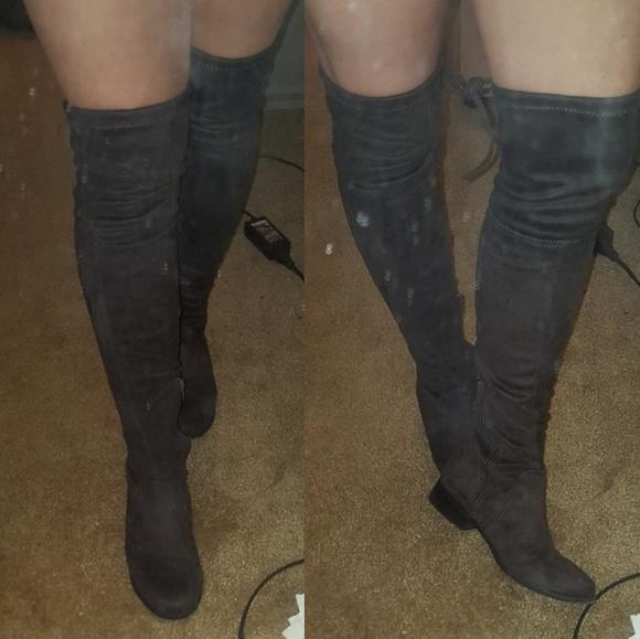 ac9ea085201 Grey Thigh high boots